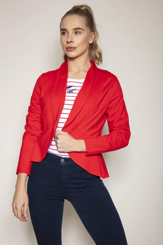 Kelly & Grace Weekend Blazers Jersey Blazer in Red