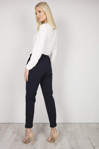 Pala D'oro Trousers Jogger Trousers in Navy