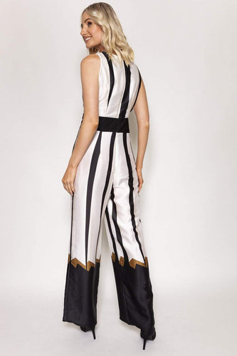 Peruzzi Jumpsuits Jumpsuit in Black and White