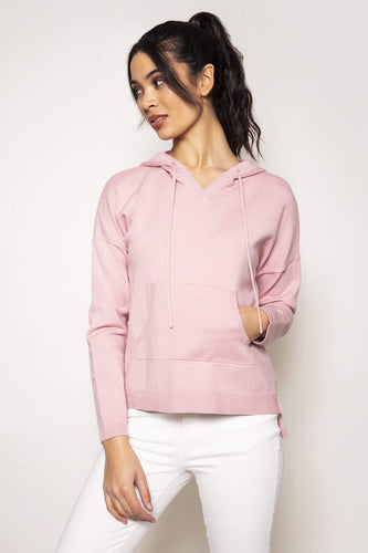 Kelly & Grace Weekend Jumpers Pink / S Knitted Hoody in Blush