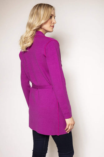 Rowen Avenue Cardigans Knitted Wrap Jacket in Fuchsia
