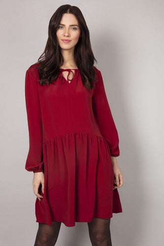 Rowen Avenue Dresses Brown / 8 / Over The Knee Lace Ruby Dress in Rust