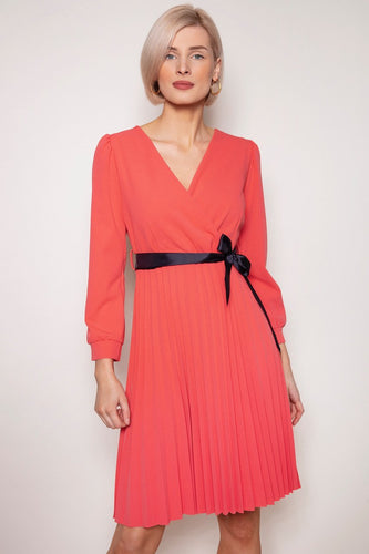 Pala D'oro Dresses Coral / S / Knee length Laoise Dress in Coral