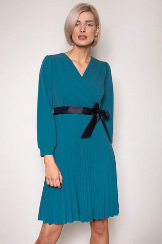 Pala D'oro Dresses Teal / S / Knee length Laoise Dress in Teal