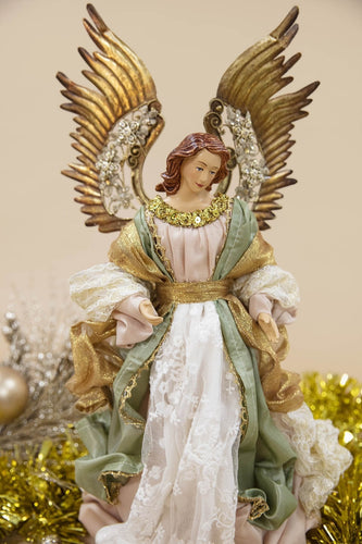 Carraig Donn HOME - Christmas Christmas Nativity Crib Large Decadent Angel