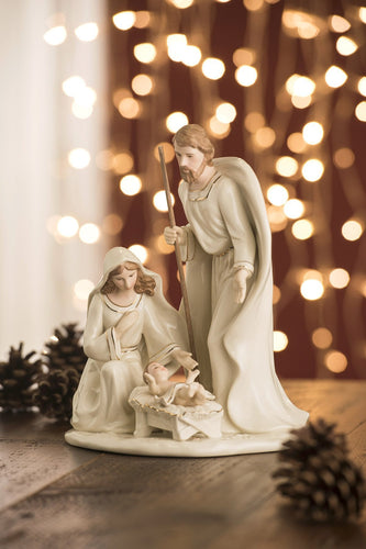 Belleek Christmas Nativity Crib Large Nativity Family