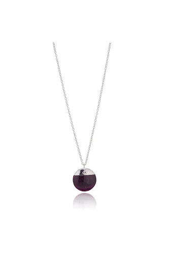 Knight & Day Necklaces Silver Leia Amethyst Necklace