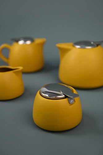 Carraig Donn HOME Sugar Pots Leib Sugar Pot in Mustard