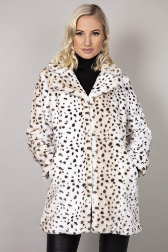 Nova of London Coats Animal / 8 Leopard Faux Fur Teddy Coat