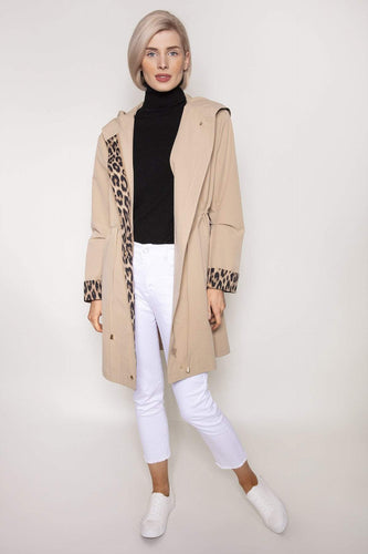 Kelly & Grace Weekend Jackets Leopard Print Rain Mac