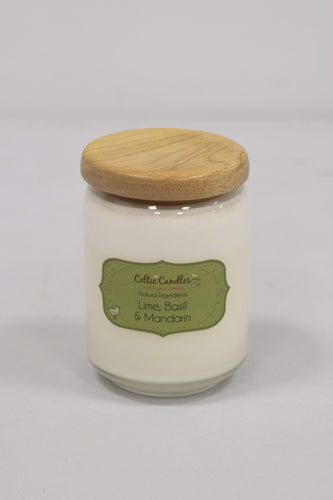 Celtic Candles Candles Lime, Basil and Mandarin Large Pop Jar
