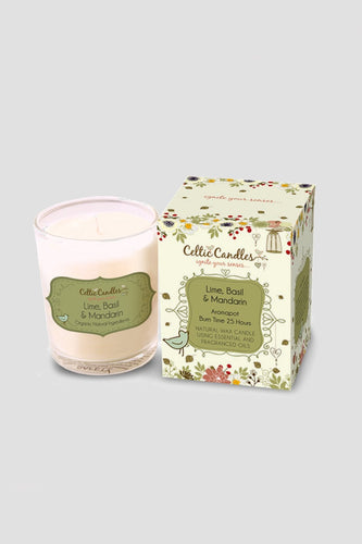 Celtic Candles Candles Lime, Basil & Mandarin Celtic Votive 9cl