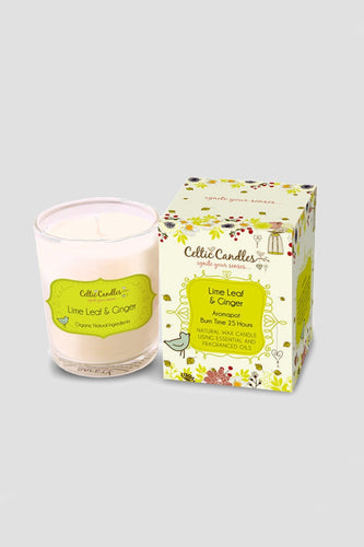Celtic Candles Candles Lime Leaf and Ginger Celtic Votive 9cl