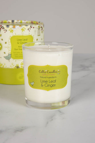Celtic Candles Candles Lime Leaf & Ginger Aromapot Round Tumbler 20cl