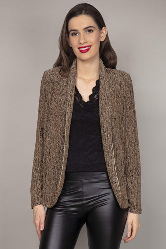 J'aime la Vie Jackets Gold / 10 Long Sleeves Blazer in Gold