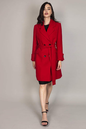 Rowen Avenue Jackets Red / 10 Long Wrap Coat in Red
