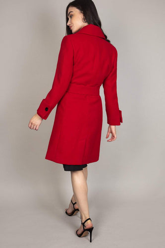 Rowen Avenue Jackets Long Wrap Coat in Red