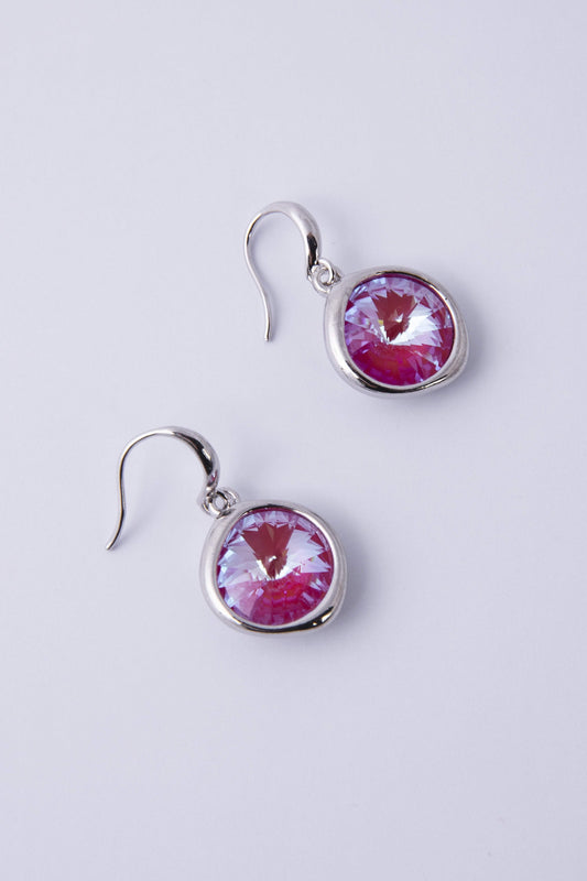 Knight & Day Earrings Silver Lotus Pink Delite Earrings
