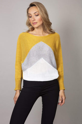 Pala D'oro Jumpers Mustard / S/M Lurex Dome Sweater in Mustard