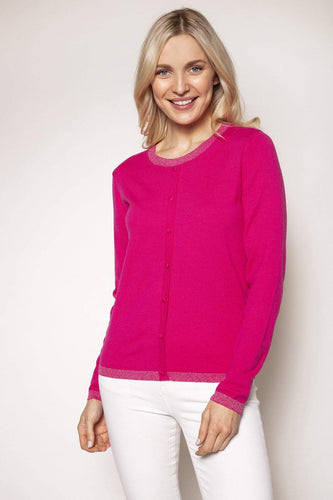 Rowen Avenue Jumpers Pink / S Lurex Trim Knit in Pink