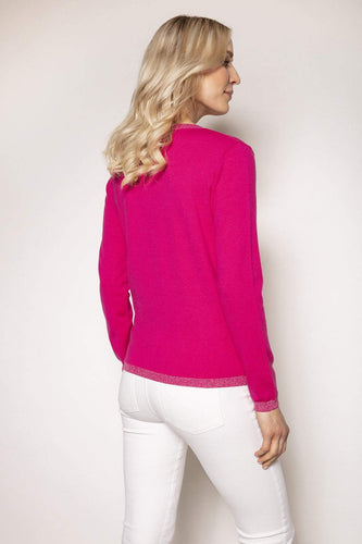 Rowen Avenue Jumpers Lurex Trim Knit in Pink
