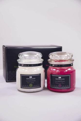 Newgrange Candles Luxury Fragrance Medium Candle Jar Set of 2