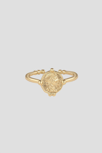 Newbridge Silverware Jewellery Rings Gold Marcus Aurelius Coin Ring