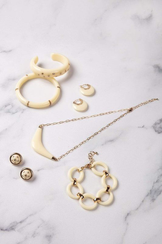 Knight & Day Necklaces Gold Marina Ivory Necklace