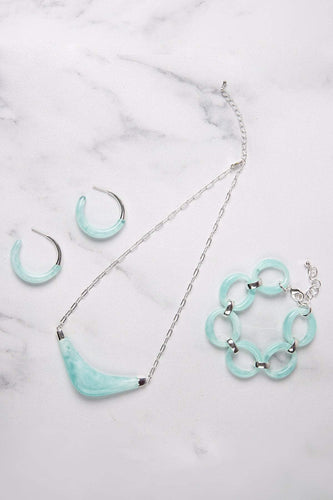 Knight & Day Necklaces Silver Marina Turquoise Necklace
