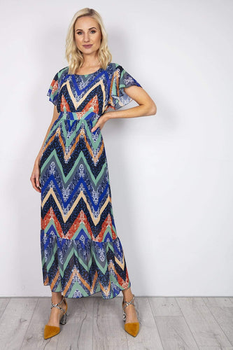 Pala D'oro Dresses Multi / S/M / Maxi Maxi Dress in Multi Print