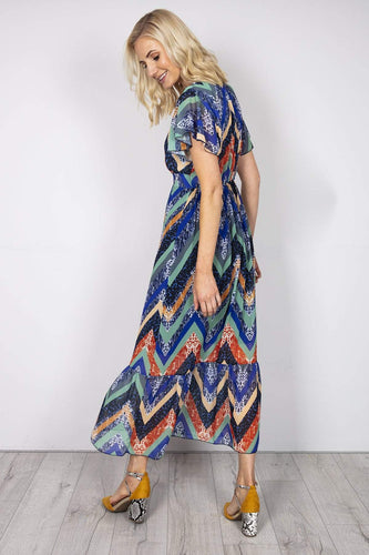 Pala D'oro Dresses Maxi Dress in Multi Print