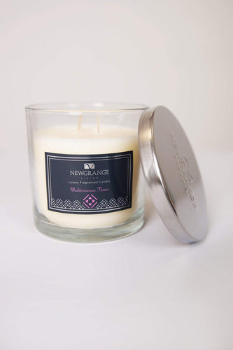 Newgrange Candles Mediterranean Flower Luxury 2 Wick Candle