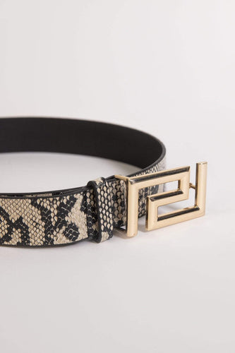 SOUL Accessories Belts Animal Medium Snake Print Belt