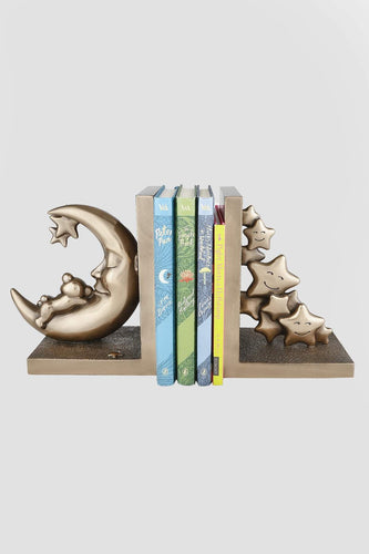 Genesis Ornaments Moon and Teddy Set of Bookends