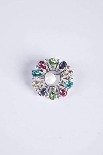 Knight & Day Brooches Silver Multi Colour Brooch