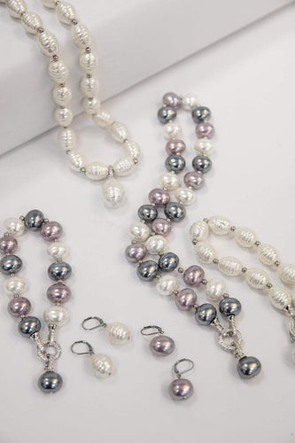 Joularie Necklaces Gold Multi Tones Pearls Necklace