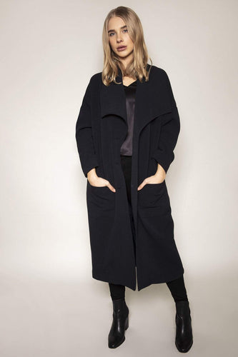 Peruzzi Coats Navy / 10 Navy Oversized Coat