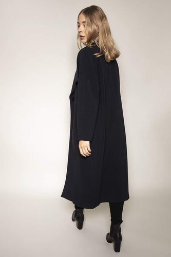 Peruzzi Coats Navy Oversized Coat