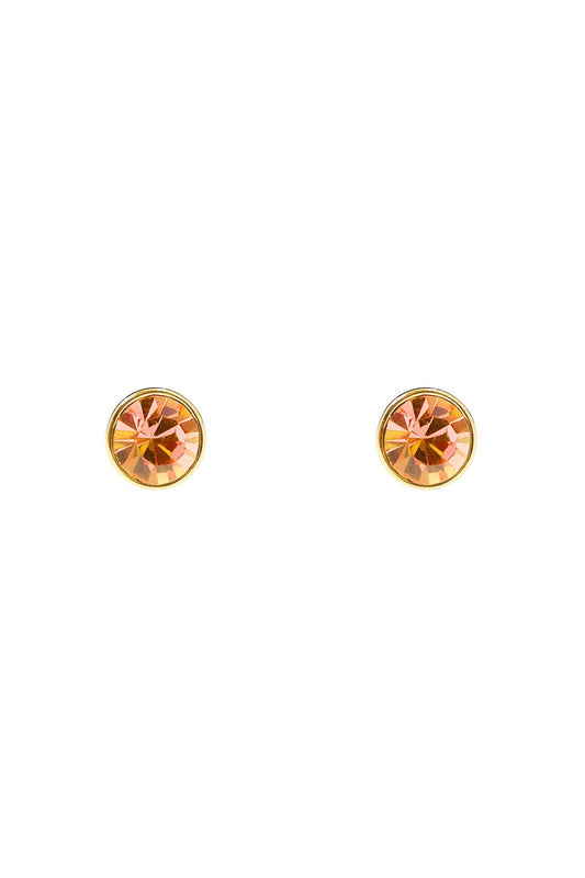 Cherish Earrings Gold November Birthstone Earrings