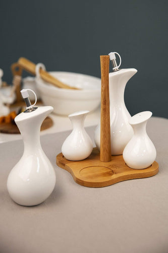 Carraig Donn HOME Kitchen accessories Oil, Vinegar, Salt & Pepper Set