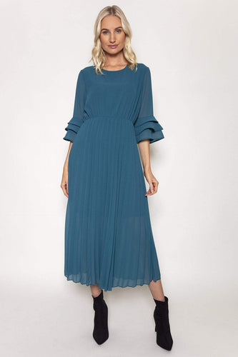 Pala D'oro Dresses Teal / S/M / Midi Orla Dress in Teal
