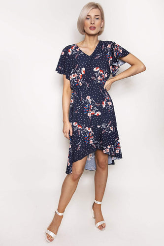 Pala D'oro Dresses Orna Dress in Navy Print