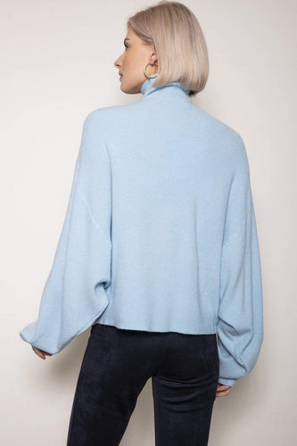 Pala D'oro Jumpers Blue / One / Long Sleeve Oversized Knit in Light Blue