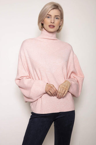 Pala D'oro Jumpers Pink / One / Long Sleeve Oversized Knit in Light Pink