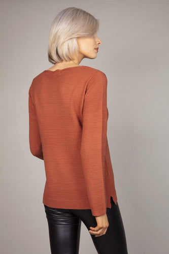Rowen Avenue Jumpers Panel Crew Neck Knit in Brown