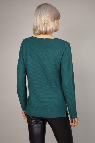 Rowen Avenue Jumpers Panel Crew Neck Knit in Green