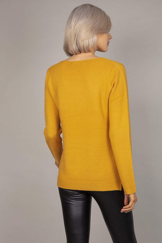 Rowen Avenue Jumpers Panel Crew Neck Knit in Mustard