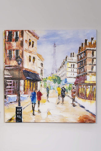 Carraig Donn HOME Wall Art Paris Scene Cat Canvas Art Wall Decor 80 x 80