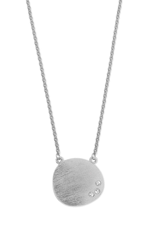 Tipperary Crystal Jewellery Necklaces Silver Pebble Pendant With CZ