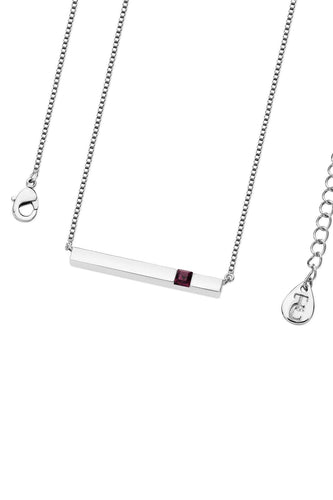 Tipperary Crystal Jewellery Necklaces Silver Pendant Amethyst Bar February